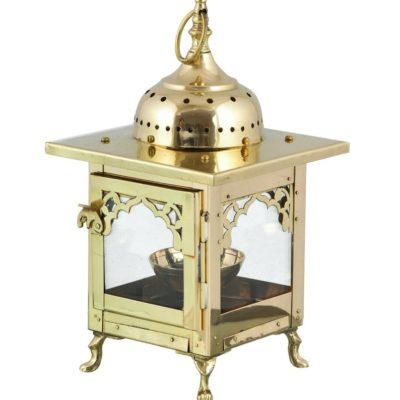 Unique Antique Brass Candle Lantern