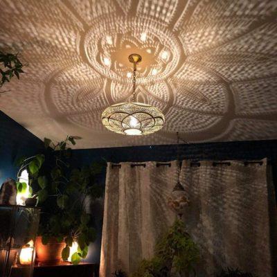 Moroccan Brass Ceiling Light