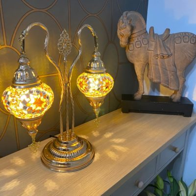 Twin Cascades Moroccan Table Lamp