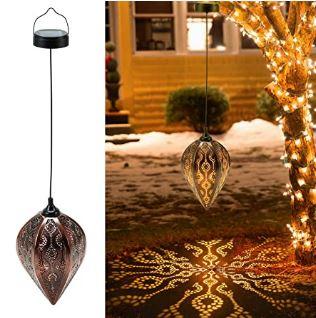 2 Pcs Decorative Retro Solar Garden Lantern