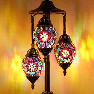 3-Globe Mosaic Glass Table Lamp