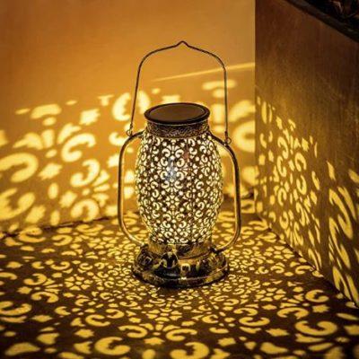 Floral Cutouts Decorative Solar Lantern