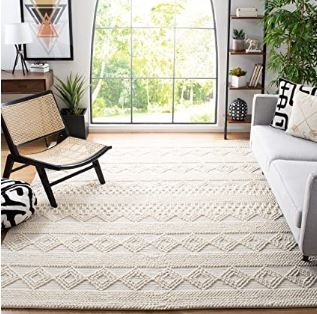 Moroccan Tribal Wool and Cotton Rug
