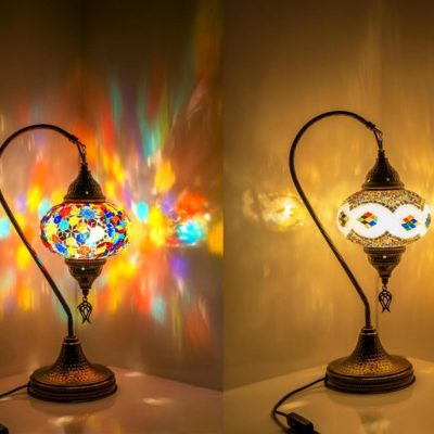 Handmade Moroccan Swan Neck Table Lamp