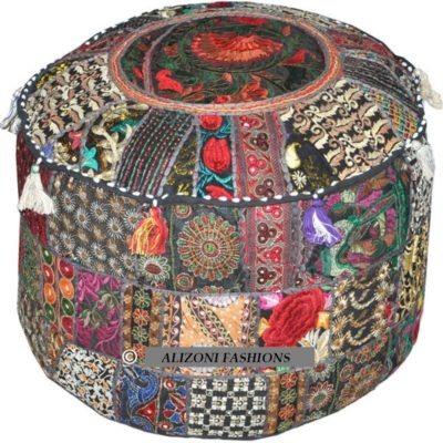 Patchwork Pouf Cover