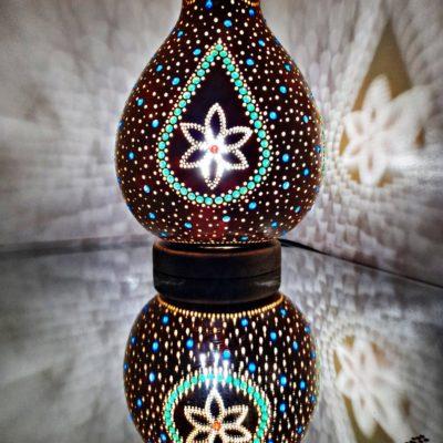 Handmade Sphere Gourd Lamp