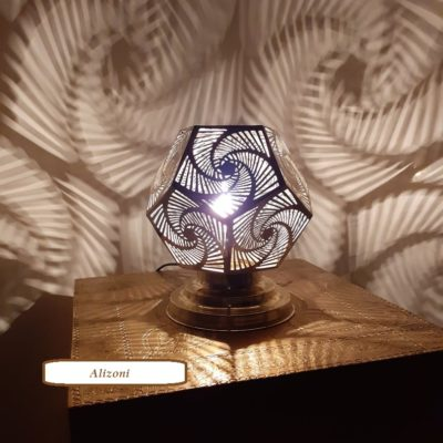 Relaxing Moroccan Brass Table Lamp