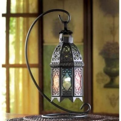 Moroccan Rainbow Ornate Candle Holder