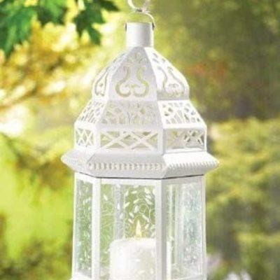 Ornate Moroccan Glass Candle Lantern