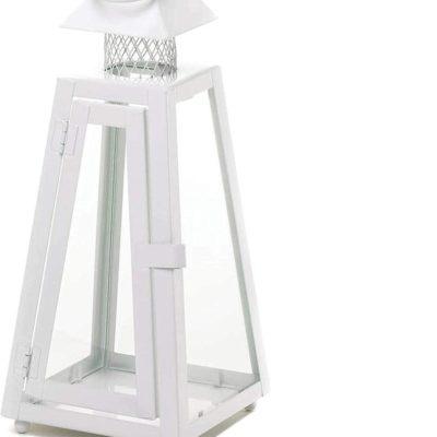 White Summit Moroccan Candle Lantern