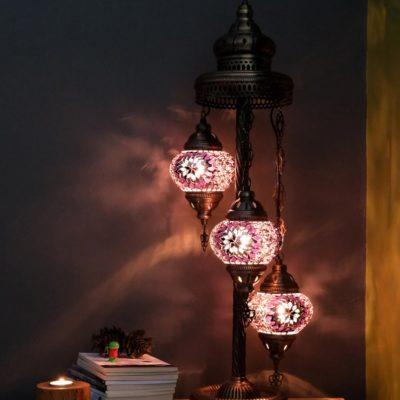 3 Globes Moroccan Floor Lamp