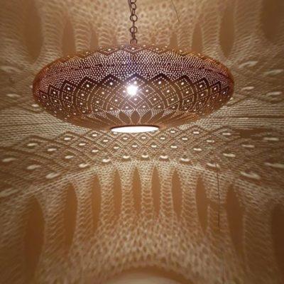 Magnificent Moroccan Copper Lifting Pendant Light
