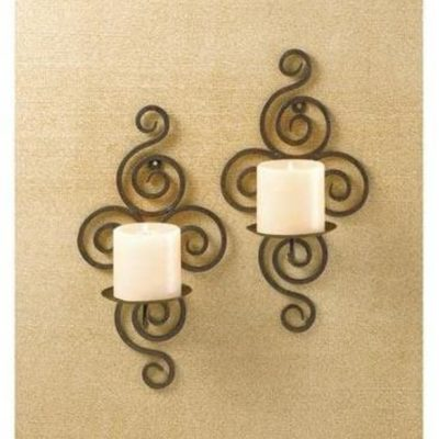 Pair of Swirl Candle