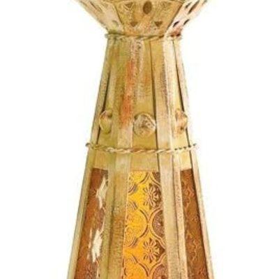 Amber Moroccan Teardrop Candle Lantern