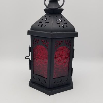 Red Moroccan Hanging Deck Light