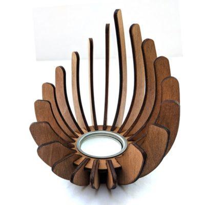 Handmade Wooden Teal