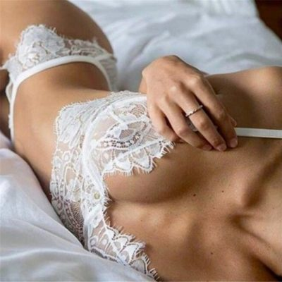 Lace bra and brief s