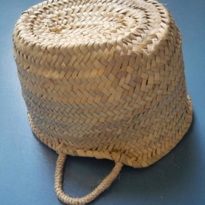 Traditional Moroccan basket sheet Palm 100% straw