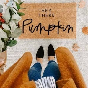THE ORIGINAL Hey It Pumpkin | welcome mat
