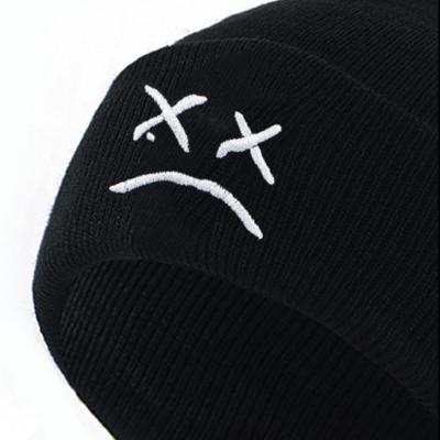 Sad Face Embroidered