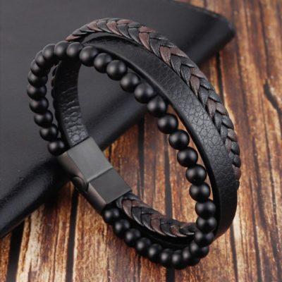 Mens Bracelet,Leathe