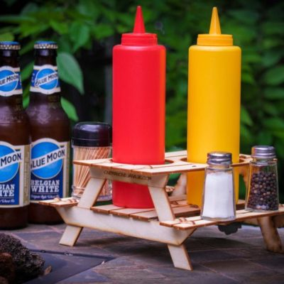 Picnic Table Mini 3D Kit Beer or Condiment Holder