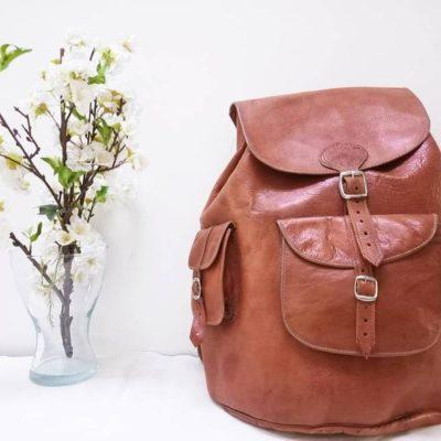 Huge Moroccan Leather Backpack