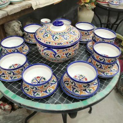 Set of 6 Moroccan Handmade Ceramic Bowls
