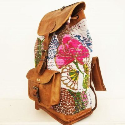 Vintage Hippie Flower Backpack