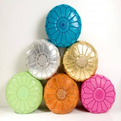 Handmade Moroccan Leather Pouf