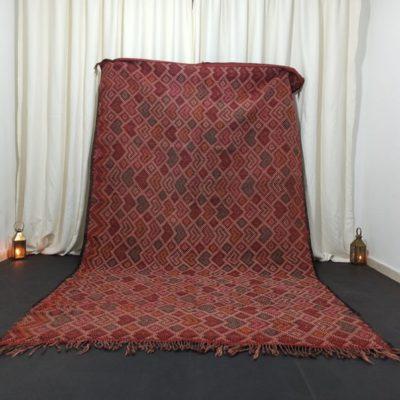 Vintage Moroccan Rug Nomad Kilim Rug-6 x 9.9 Feet