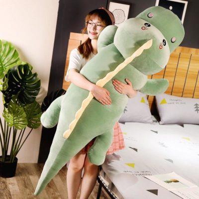 Plush Crocodile Pillow