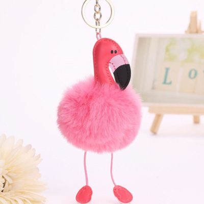Flamingo Plush Keych