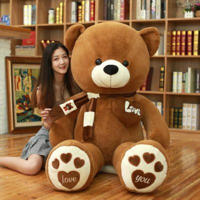 Teddy Bear With Scarf & Heart